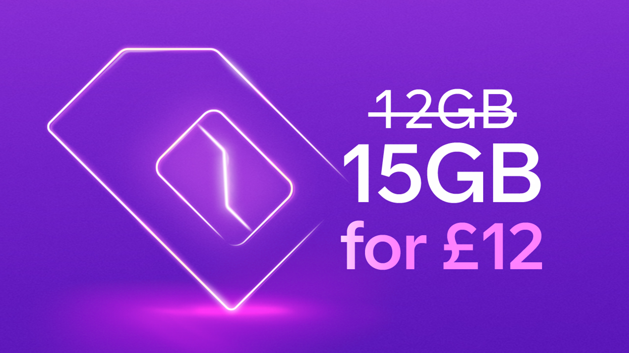 15GB for £12 a month SIM Only deal - ends 2 July 2020
