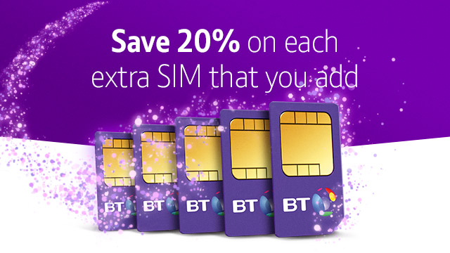 BT Family Sim - Save 20% on each extra Sim that you add