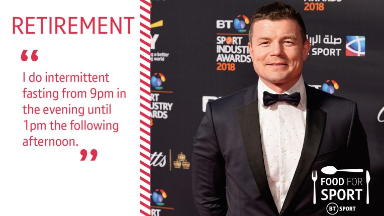 Brian O'Driscoll talks about practicing intermittent fasting during retirement