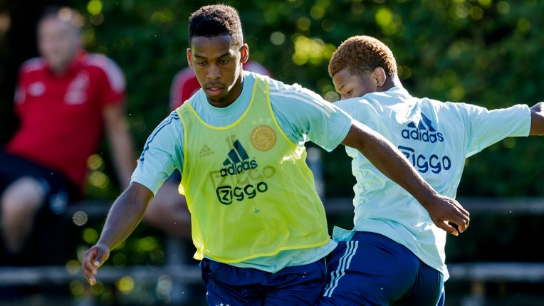 Jurrien Timbers joined Ajax with his twin brother Quinten