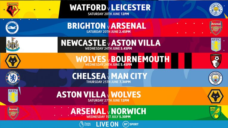 BT Sport's remaining TV fixtures