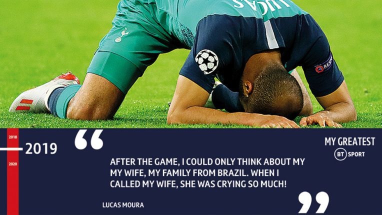 Lucas Moura describes the feeling of scoring the winning goal against Ajax