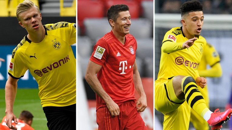 Haaland, Lewandowski and Sancho are all in action on Tuesday evening, exclusively live on BT Sport