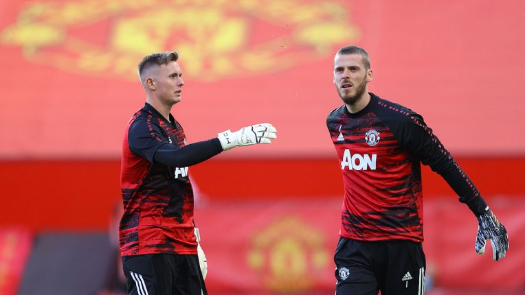 De Gea faces a fresh challenge for his position from United academy graduate Dean Henderson (left)