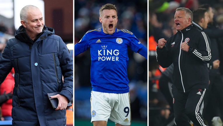 Jose Mourinho, Jamie Vardy and Chris Wilder - three men who ripped up the script this season