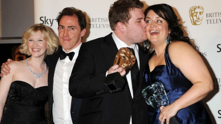 Joanna Page, Rob Brydon, James Corden and Ruth Jones at the Baftas