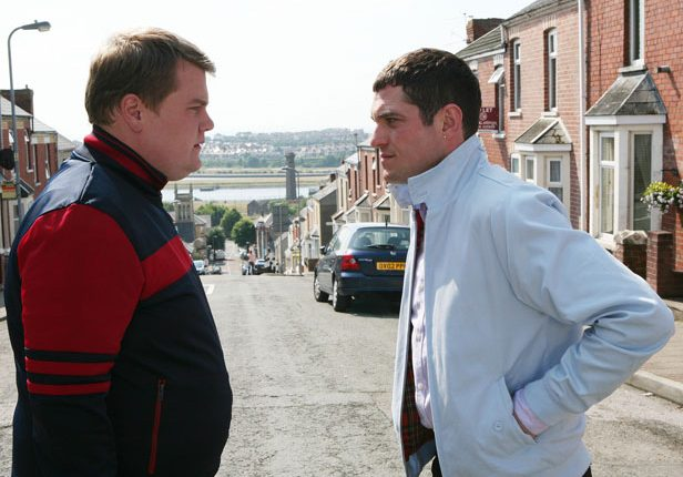James Corden as Smithy and Mathew Horne as Gavin in Gavin and Stacey