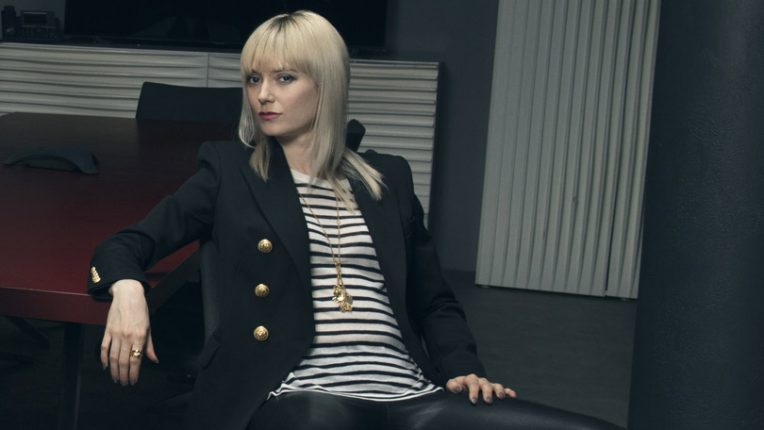 Lydia Wilson as Eve in W drama Flack