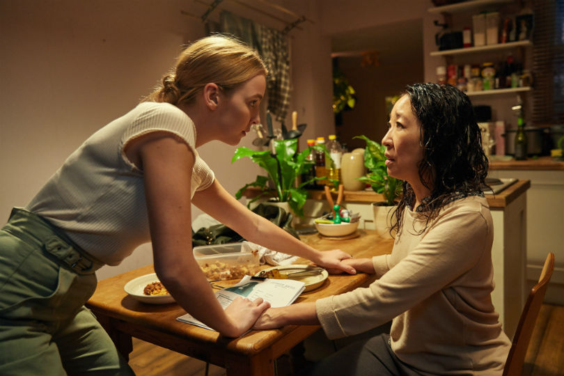 Jodie Comer and Sandra Oh in series 1 of Killing Eve