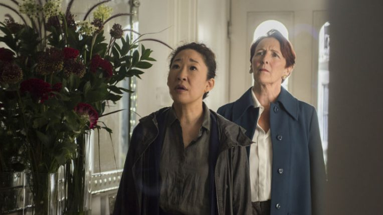 Sandra Oh and Fiona Shaw in Killing Eve series 2