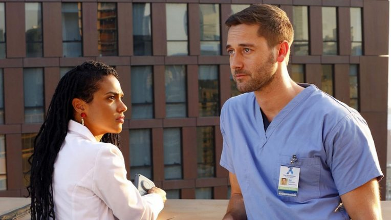 Freema Agyeman and Ryan Eggold in New Amsterdam