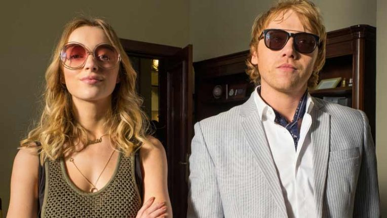 Phoebe Dynevor and Rupert Grint in Snatch