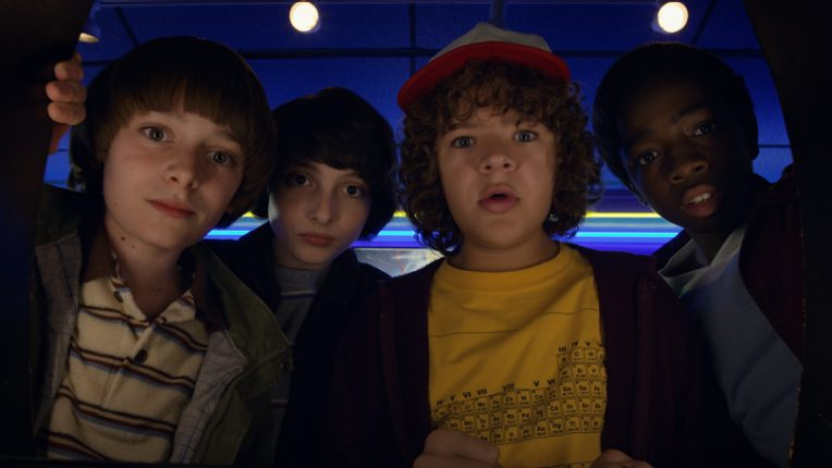 Dustin, Mike, Lucas and Will in Stranger Things