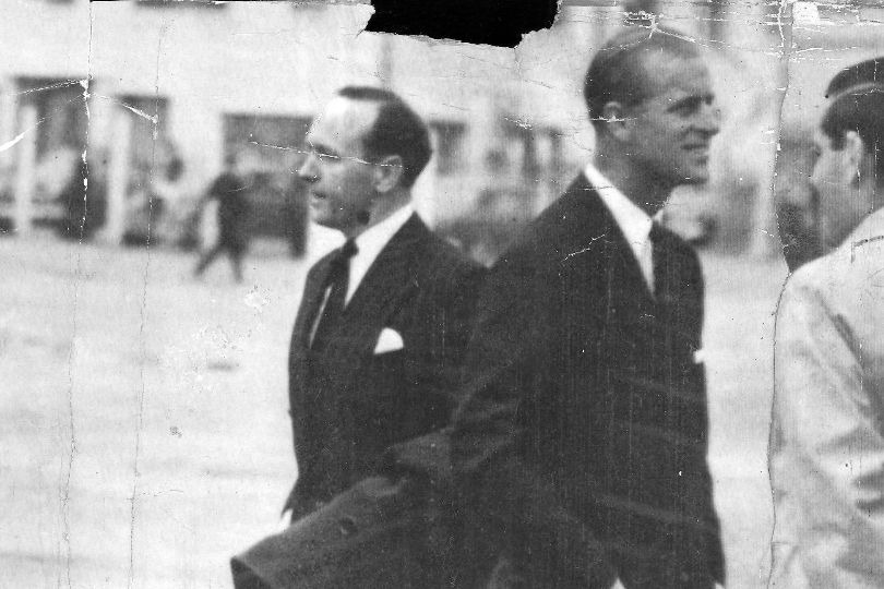 Michael Parker with Prince Philip
