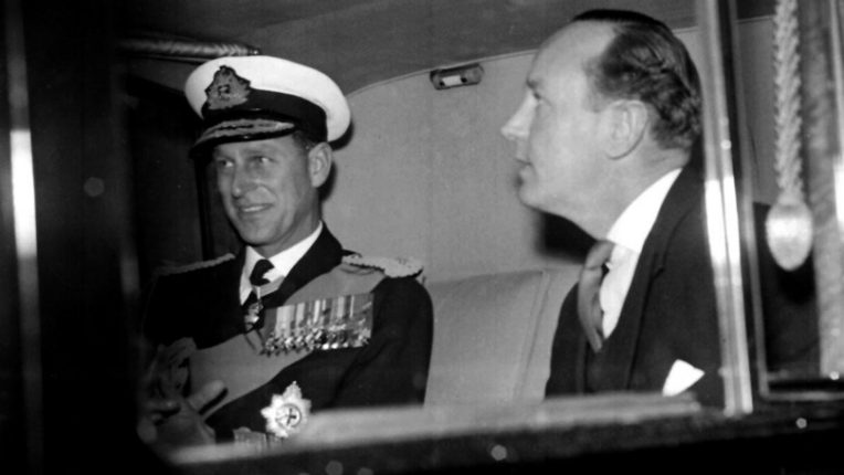 Prince Philip with Mike Parker