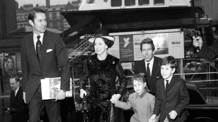Princess Margaret with her children in the 1960s