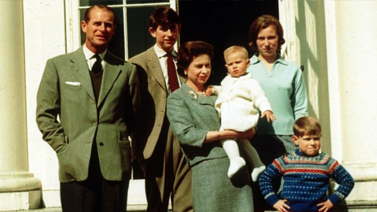 The Windsors after the birth of Prince Edward