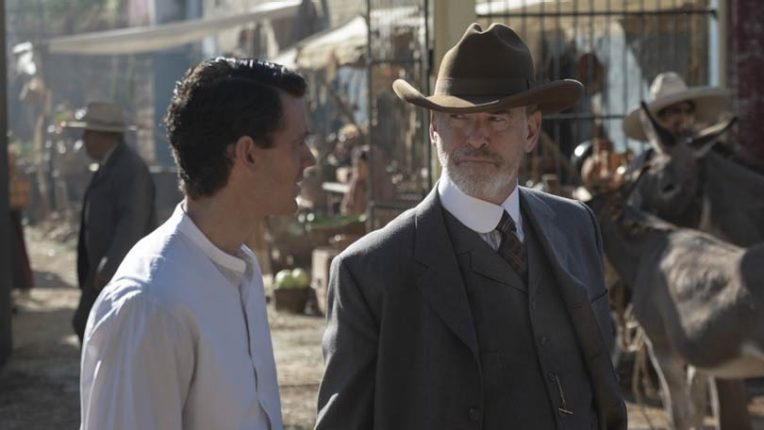 Henry Garrett and Pierce Brosnan in The Son