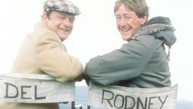 David Jason as Del Trotter and Nicholas Lyndhurst as Rodney in Only Fools and Horses