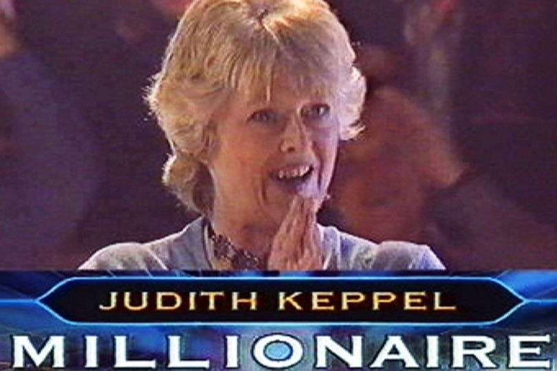 Judith Keppel winning Who Wants To Be A Millionaire?