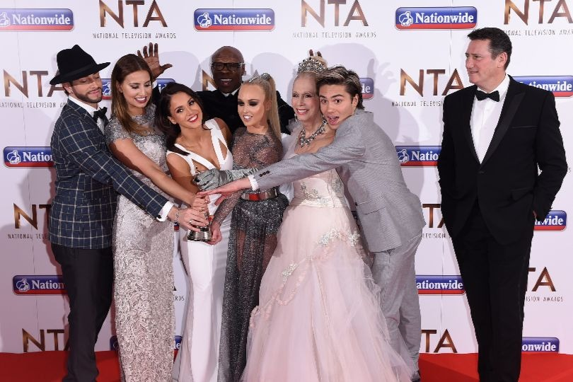 Vicky Pattison and the cast of I'm a Celebrity... 2015 celebrate the show's NTA award
