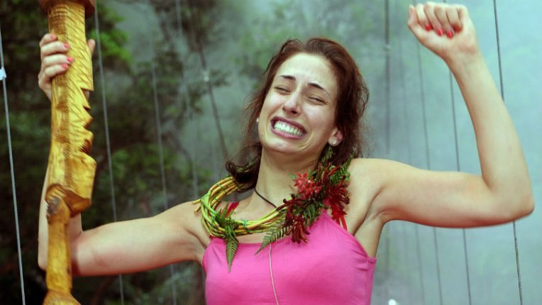 Stacey Solomon winning I'm A Celebrity