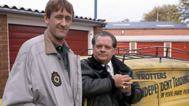 Nicholas Lyndhurst as Rodney Trotter and David Jason as Del Trotter in Only Fools and Horses