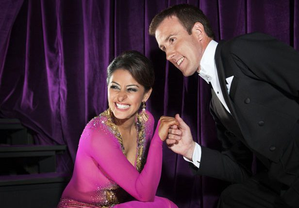 Laila Rouass and Anton Du Beke on Strictly Come Dancing