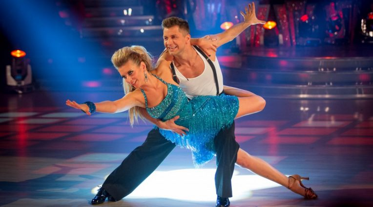 Former Strictly Come Dancing contestants Rachel Riley and Pasha Kovalev