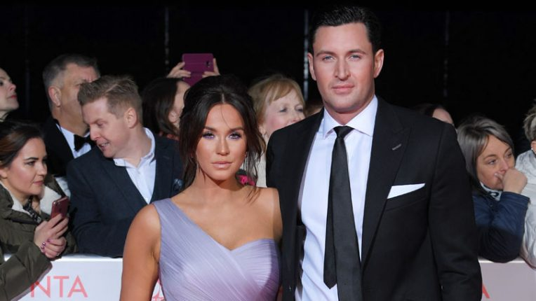 Vicky Pattison with ex fiancee John Noble