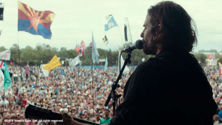 Bradley Cooper on stage at Glastonbury