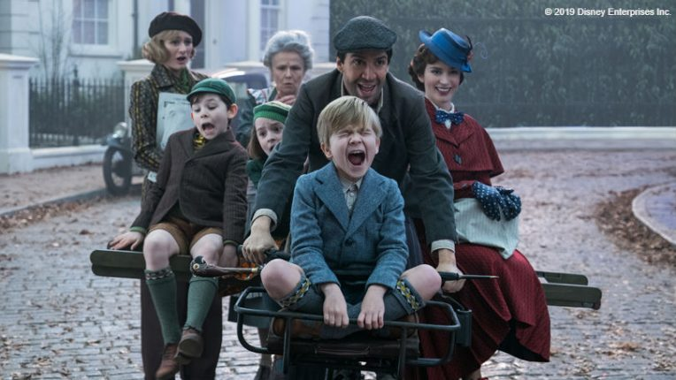 Lin-Manuel Miranda, Emily Mortimer and Emily Blunt in Mary Poppins Returns