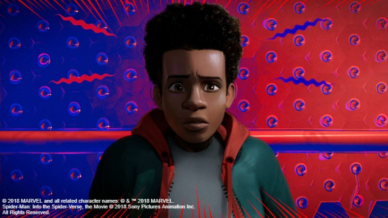 Miles Morales in Spider-Man Into the Spider Verse