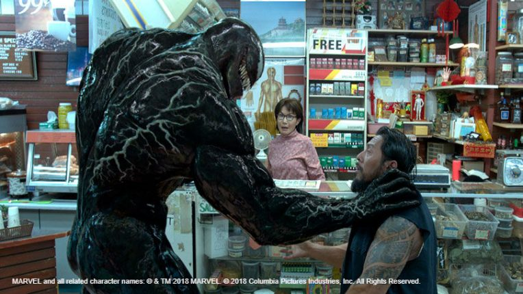 Monster in a shop in Venom