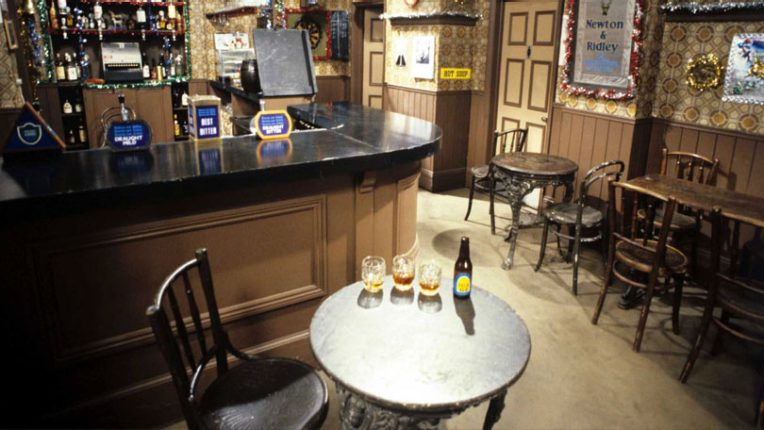 Interior of Coronation Street set, Granada Studios