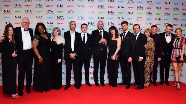 The Emmerdale cast at the NTAs