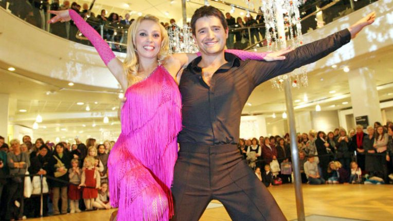 Strictly Come Dancing contestants Camilla Dallerup and Tom Chambers