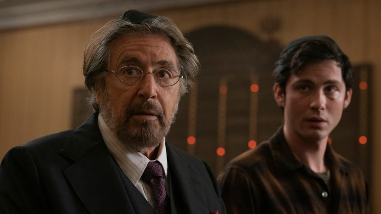Al Pacino and Logan Lerman in Hunters