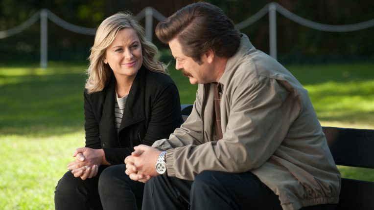 Amy Poehler as Leslie Knope & Nick Offerman as Ron Swanson