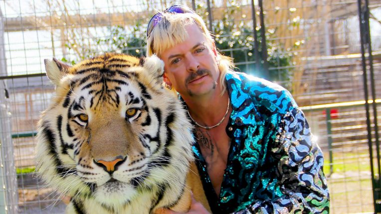 Tiger King Joe Exotic with tiger
