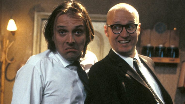 Rik Mayall and Ade Edmonson in Bottom