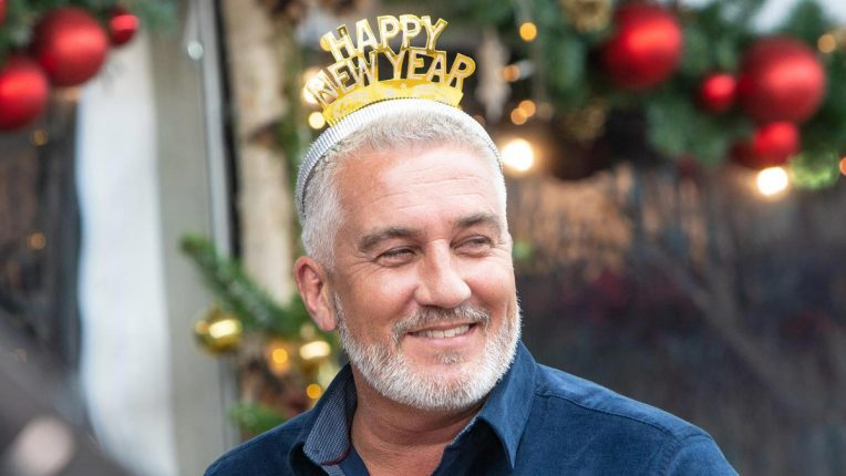 Paul Hollywood in festive headwear for the Christmas Bake Off special