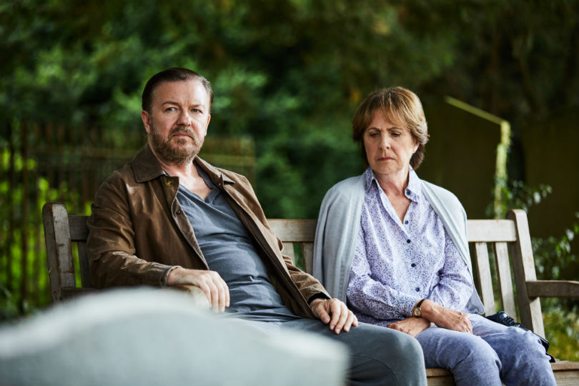 After Life Ricky Gervais and Penelope Wilton