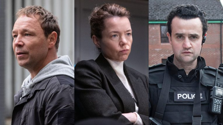 Stephen Graham, Anna Maxwell Martin and Daniel Mays in Line of Duty