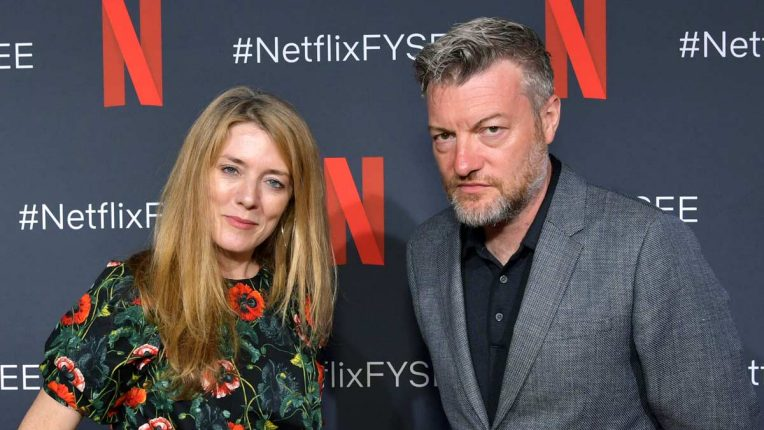 Black Mirror creators and writers Charlie Brooker and Annabel Jones