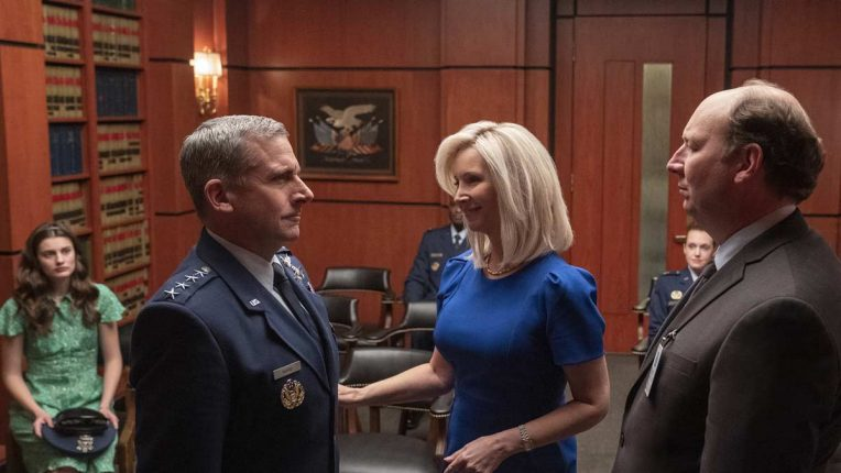 Steve Carell and Lisa Kudrow in Space Force