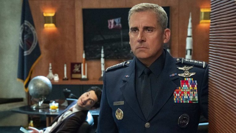 Steve Carell in Space Force on Netflix
