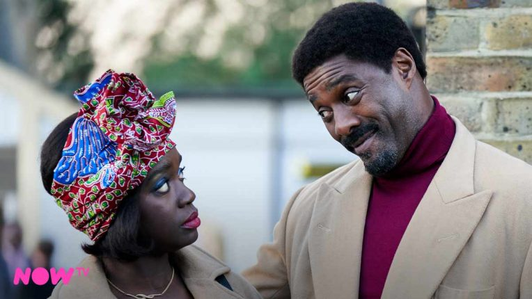 Idris Elba as Walter and Madeline Appiah as Agnes in Sky One's In The Long Run