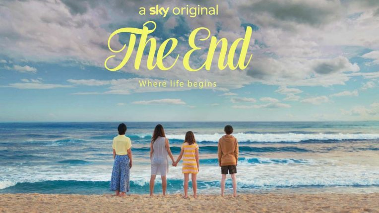 The End key art - The lead cast on the beach in the Gold Coast
