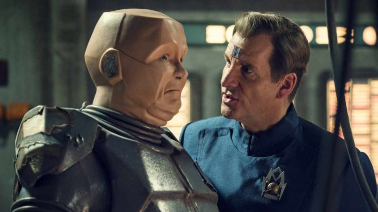 Kryten and Rimmer played by Robert Llewellyn and Chris Barrie